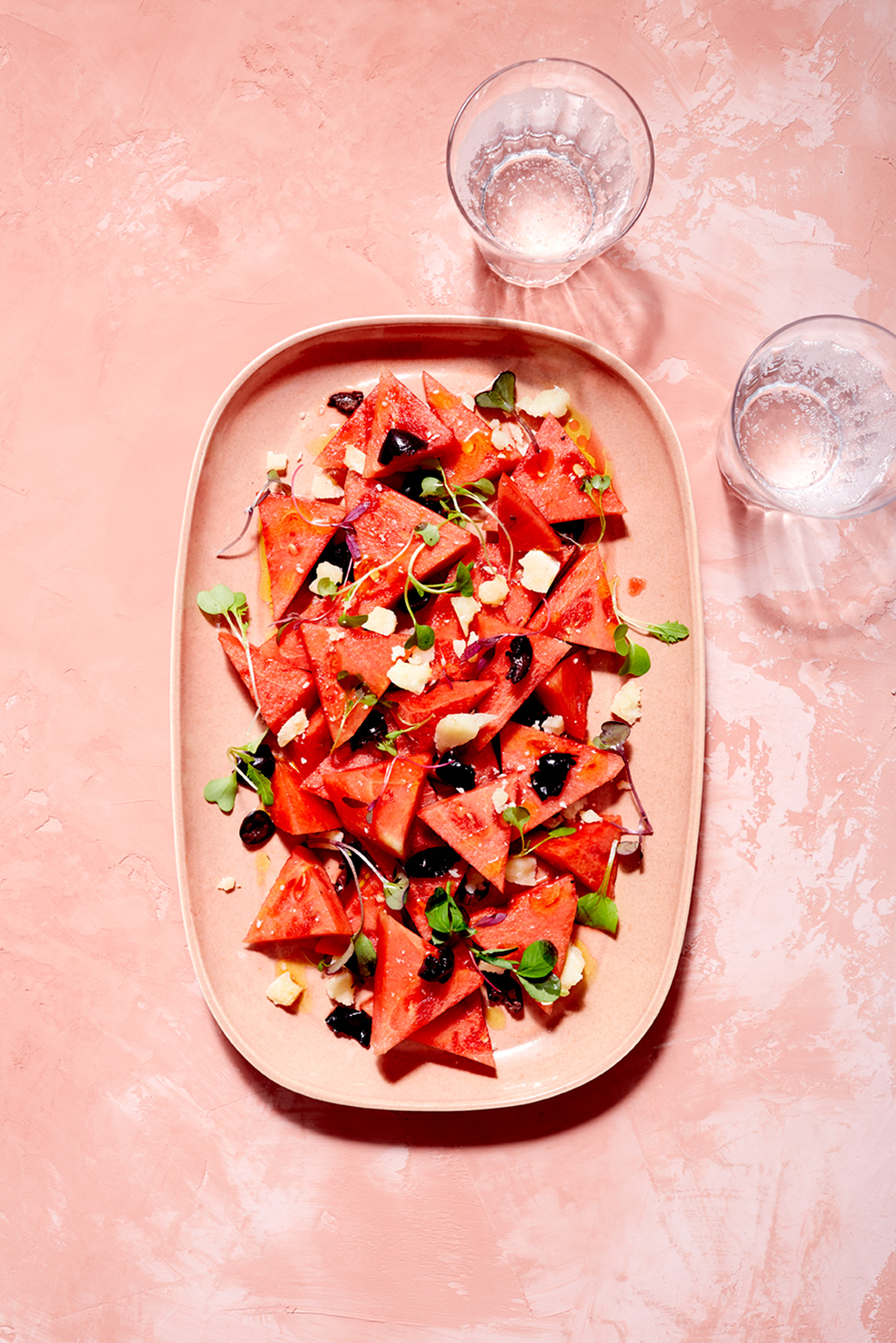 Katie Newburn | San Francisco Bay Area Food and Lifestyle Photographer | Watermelon Salad