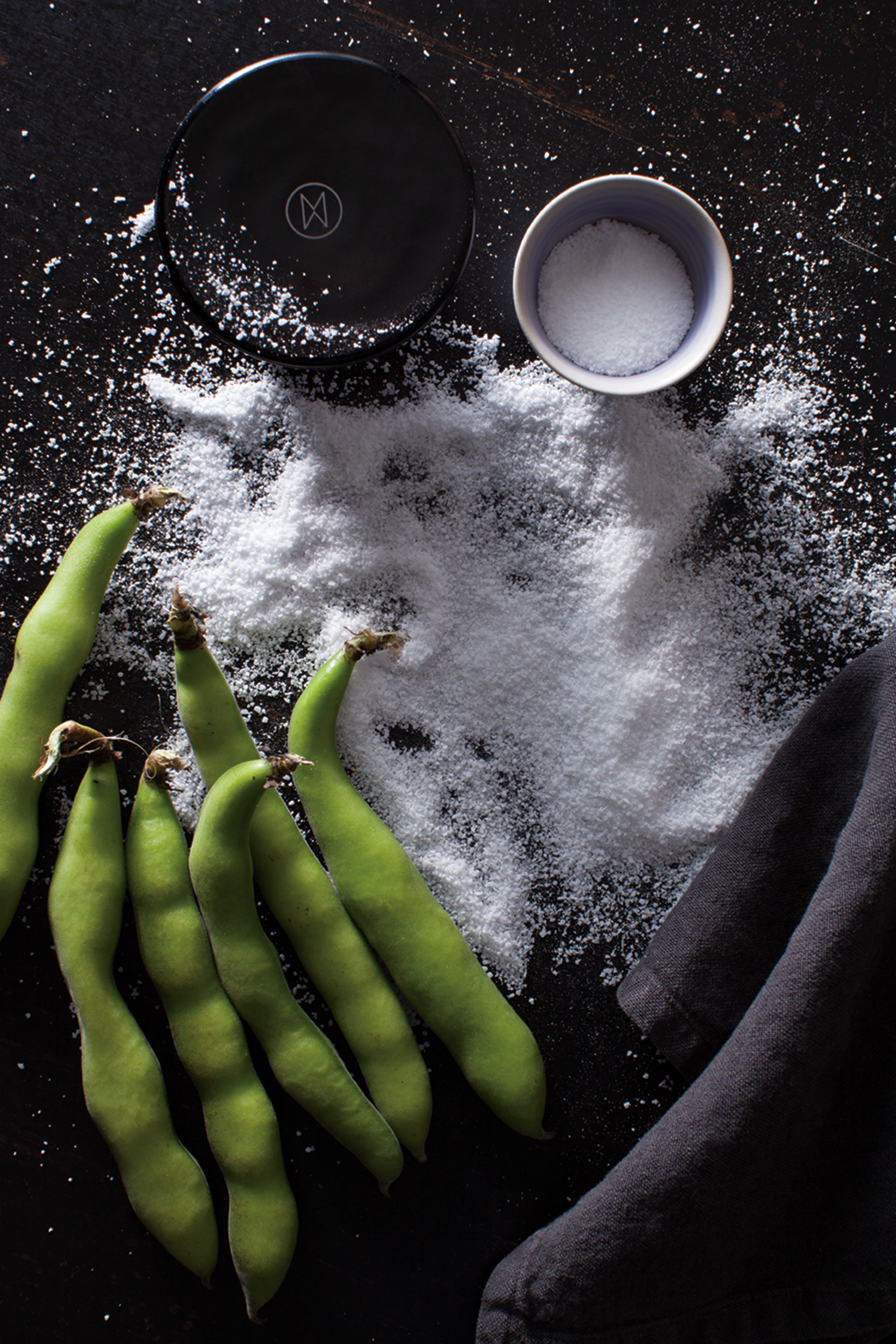 Katie Newburn | San Francisco Bay Area Food and Lifestyle Photographer | Fava Beans and Salt